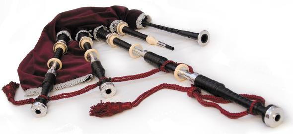 A set of AB4 McCallum Bagpipes