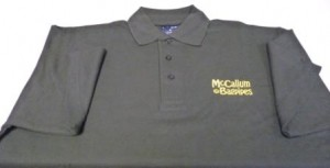Black Polo Shirt Gold Logo