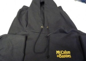 Black Hoody Gold Logo
