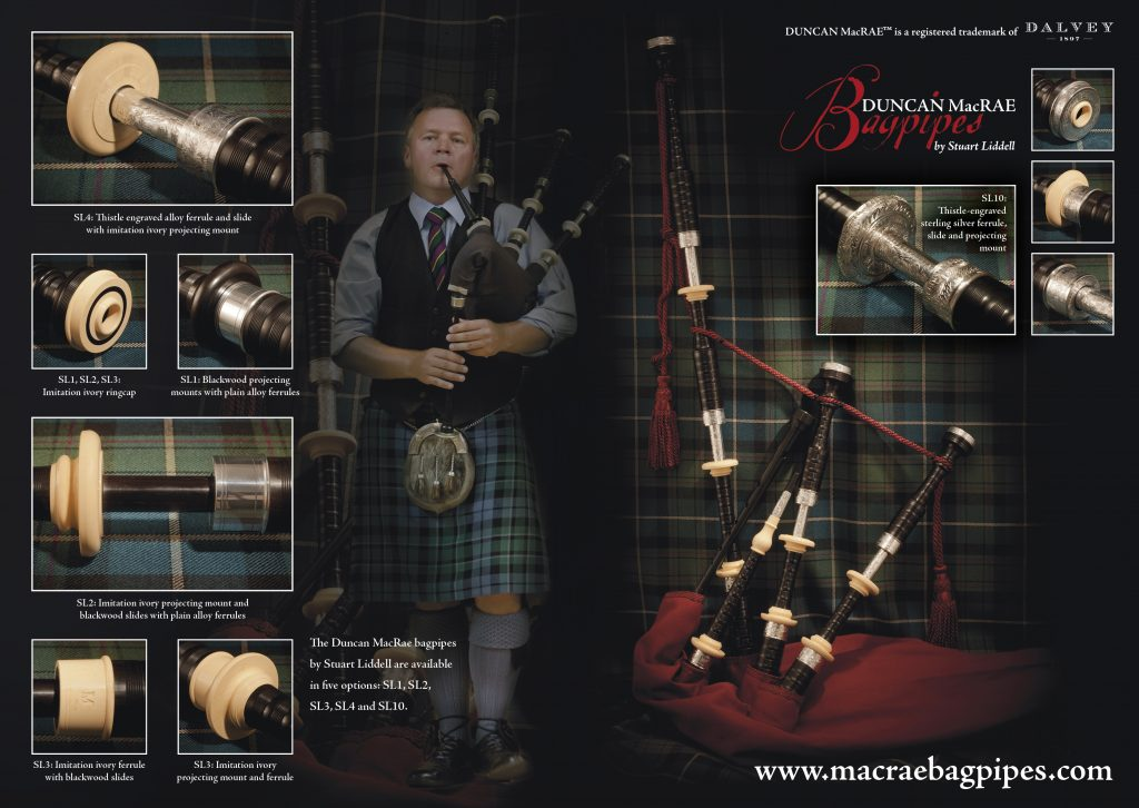 MacRae Bagpipes double page advert
